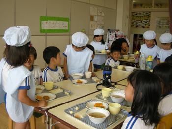 山口県防府市の幼稚園 玉祖幼稚園(たまのやようちえん)カリキュラム 食育 おいしい 給食タイム