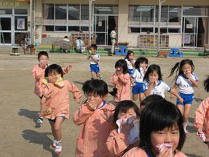 山口県防府市の幼稚園 玉祖幼稚園(たまのやようちえん)カリキュラム 非難訓練