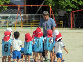 山口県防府市の幼稚園 玉祖幼稚園(たまのやようちえん)カリキュラム おけいこ サッカー