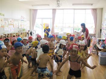 山口県防府市の幼稚園 玉祖幼稚園(たまのやようちえん)カリキュラム 防犯訓練
